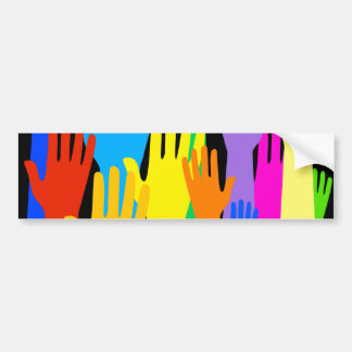 Colourful Hands Bumper Sticker