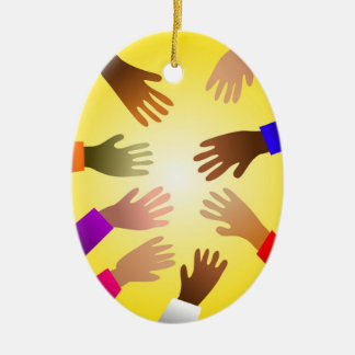 Colourful Hands Christmas Ornament