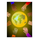 Colourful Hands Greeting Card