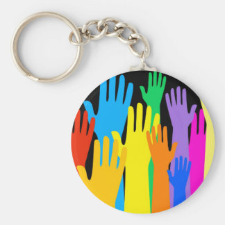 Colourful Hands Key Ring