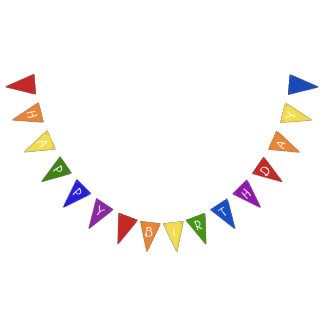 Colourful Happy Birthday Bunting Flags