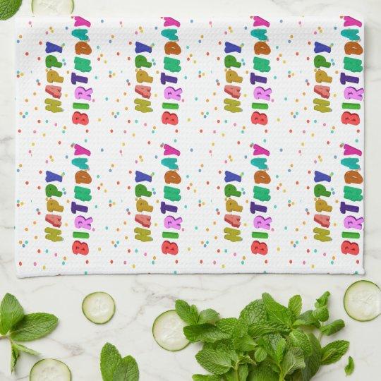 Colourful Happy Birthday Party Tea Towel