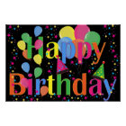 Colourful HAPPY BIRTHDAY POSTER