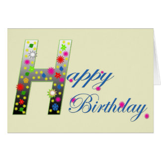Colourful Happy Greeting Birthday Card