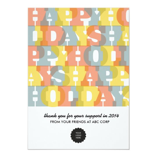 Colourful Happy Holidays Flat Card