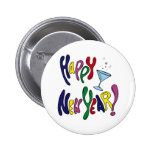 Colourful Happy New Year Buttons