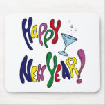 Colourful Happy New Year Mouse Mats