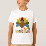 Colourful Happy Thanksgiving Turkey Tshirt