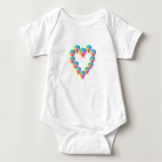Colourful Heart Baby Bodysuit