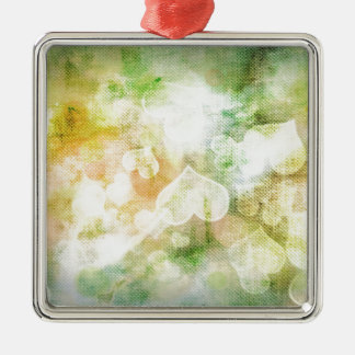 Colourful Heart Background Christmas Ornament