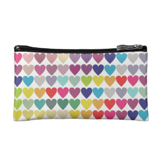 Colourful heart design small cosmetic bag. cosmetic bags
