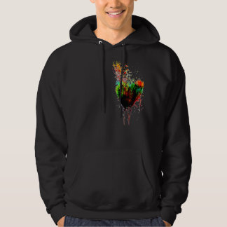 Colourful Heart Explosion Hoodle Hoodie