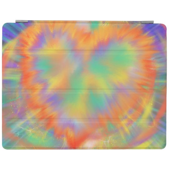 Colourful Heart Psychedelic abstract Art Design iPad Cover
