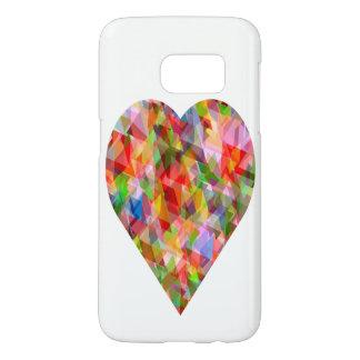 Colourful heart Samsung S7 case