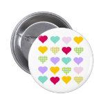 Colourful Hearts Badge