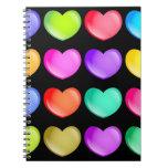 Colourful Hearts Note Books