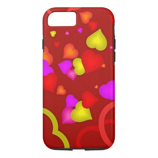 Colourful Hearts Protective Cellphone Case