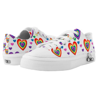 colourful Hearts zip shoes