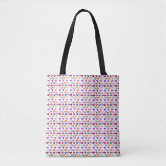 colourful heats Tote bag