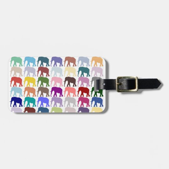 Colourful Herd Luggage Tag
