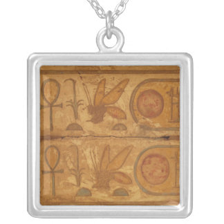 Colourful hieroglyphics, Karnak Temple, Honey Bee Silver Plated Necklace