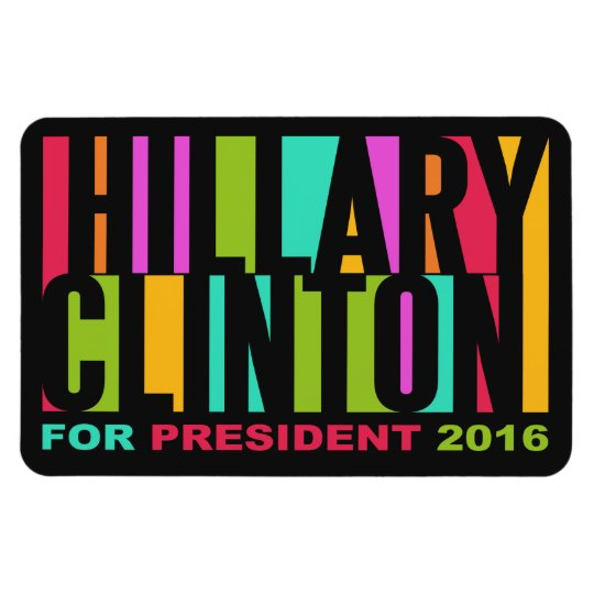 Colourful Hillary Clinton 2016 magnet