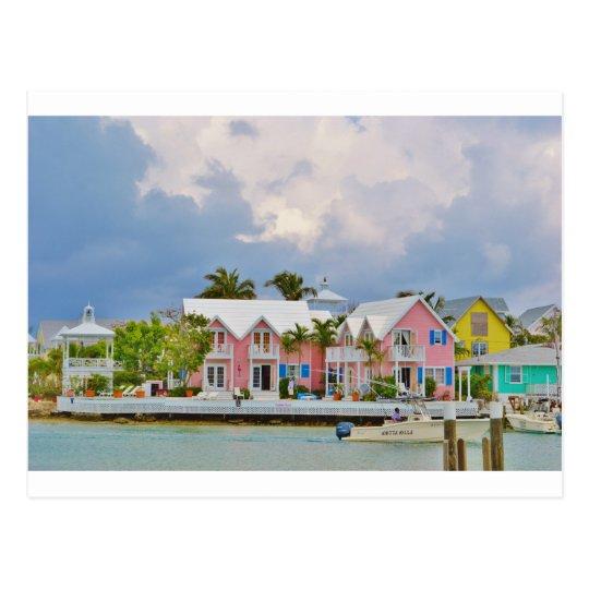 Colourful Hope Town, Bahamas Postcard