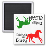 Colourful Horse Lovers Dishwasher Magnet