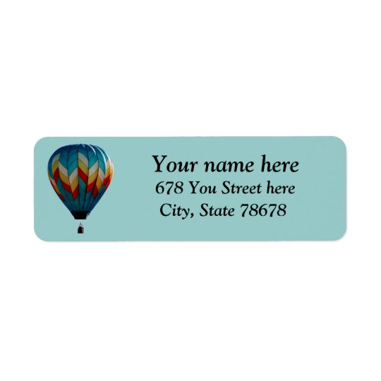 Colourful Hot Air Balloon Return Address Labels