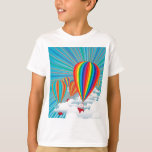 Colourful hot air balloons tees