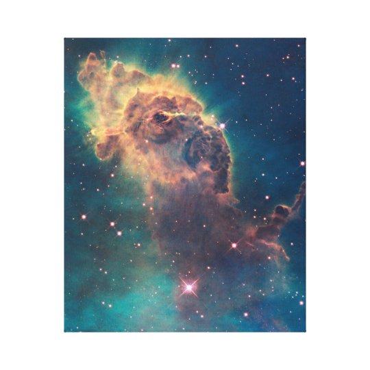 Colourful Hubble Space Telescope Carina Nebula Canvas Print