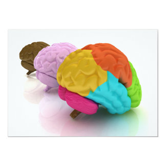Colourful Human Brains Invitations