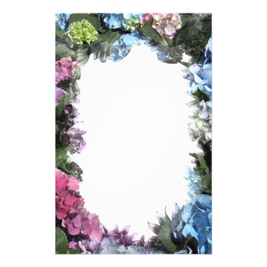 Colourful Hydrangea Blossoms Stationery