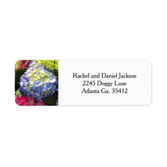 Colourful Hydrangea Flower Address Labels