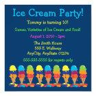 Colourful Ice Cream Party Invitation