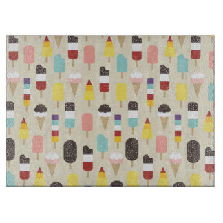 Colourful Ice Lollies & Frozen Treats Pattern Cutting Boards