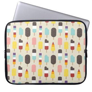 Colourful Ice Lollies & Frozen Treats Pattern Laptop Computer Sleeve
