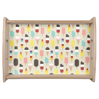 Colourful Ice Lollies & Frozen Treats Pattern Serving Platter