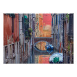 Colourful Impression Of Venice Italy Poster
