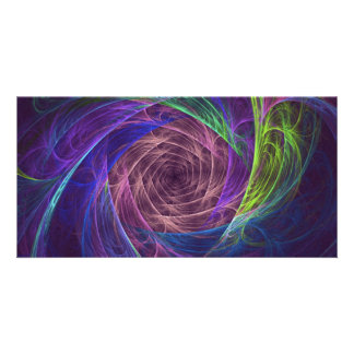 colourful-infinity photo card template