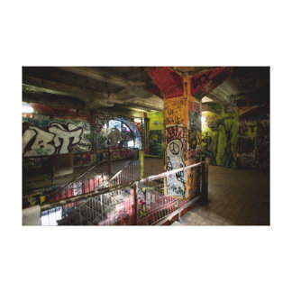 Colourful interior of Kunsthaus Tacheles Stretched Canvas Prints