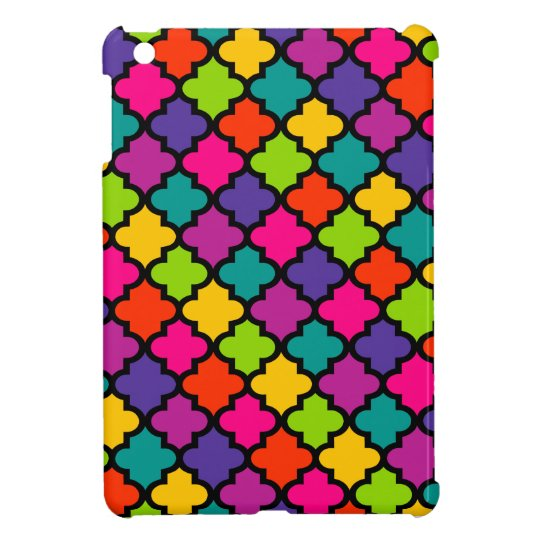 Colourful iPad Case Cover Bold Bright Moroccan