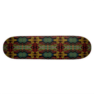 Colourful iridescent abstract skateboard
