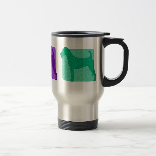 Colourful Irish Terrier Silhouettes Travel Mug