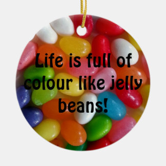 Colourful jelly beans candy christmas ornament