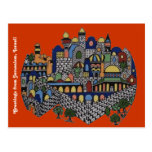 Colourful Jerusalem Postcard