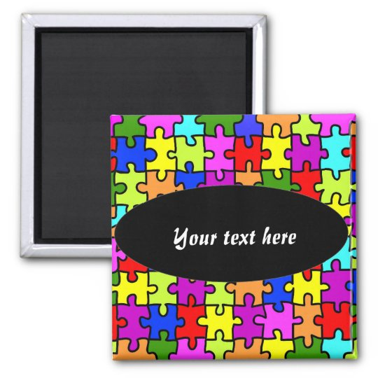 'Colourful jigsaw puzzle' magnet
