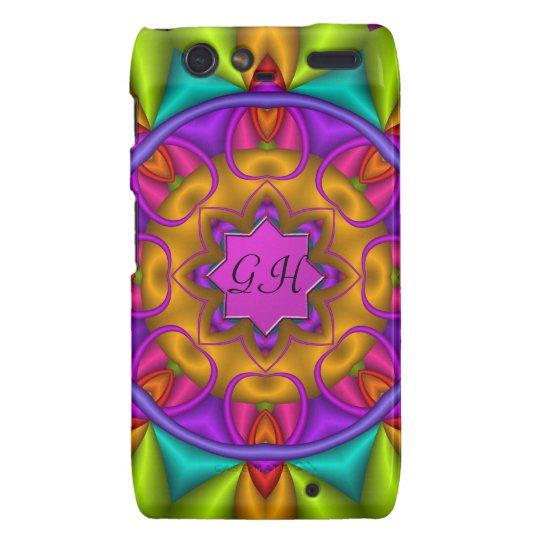 Colourful kaleidoscope case with Monogram