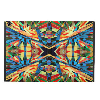 Colourful kaleidoscope circus pattern iPad air case