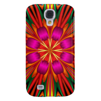Colourful kaleidoscope flower galaxy s4 case
